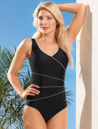 Naturana One Piece Control Suit-Black