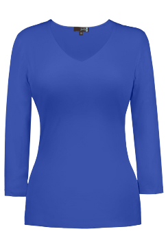 JudyP V Neck 3/4 Sleeve - Bright Royal