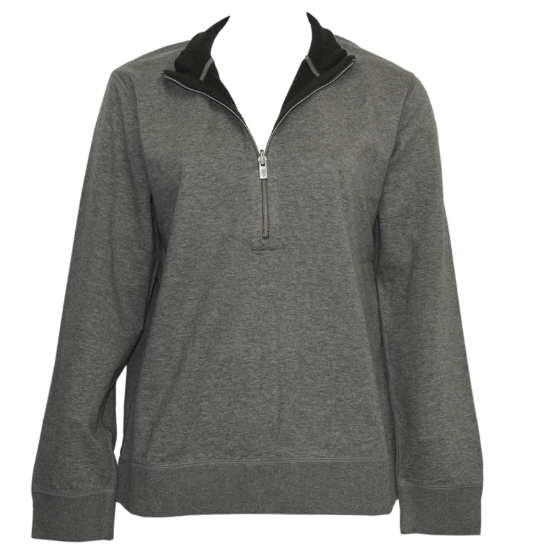Tommy Bahama Flip Side Reversible Half Zip Sweatshirt- Heather