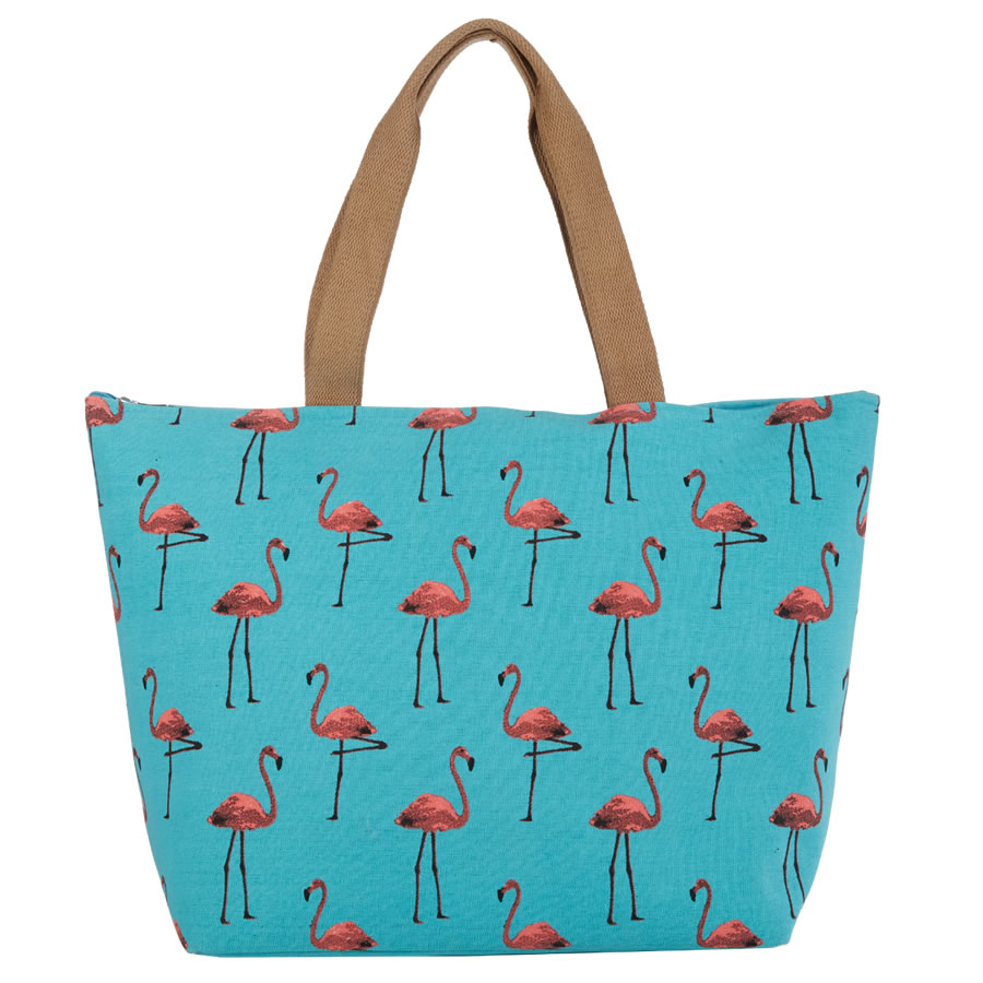 Cappelli Flamingo Double Sided Tote - Turquoise