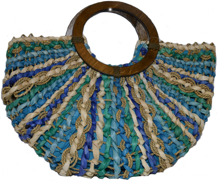 Cappelli Maize - Seagrass Bag - Turquoise