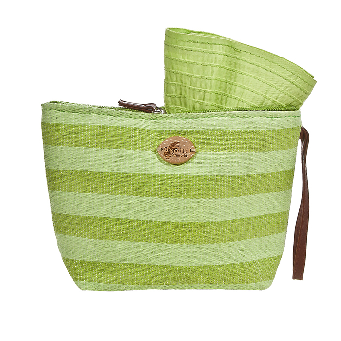 Cappelli Pack a Hat & Toyo Stripe Tote - Lime