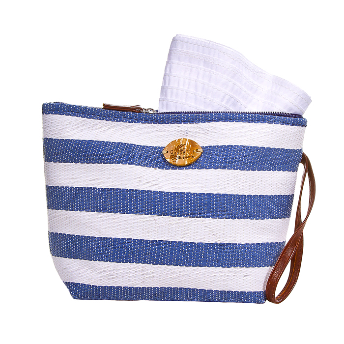 Cappelli Pack a Hat & Toyo Stripe Tote- Navy
