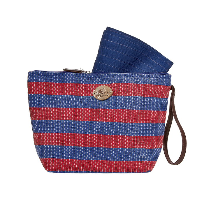 Cappelli Pack a Hat & Toyo Stripe Tote - Red/Blue