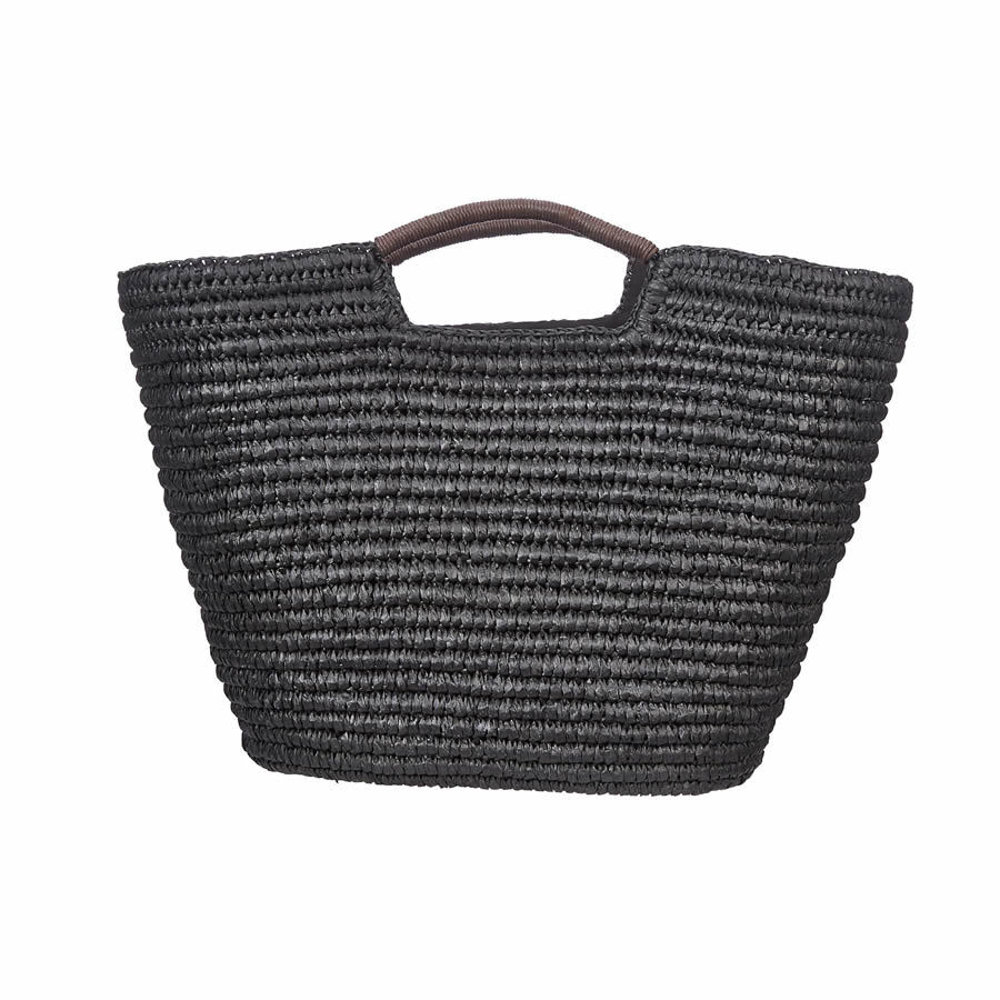 Cappelli Hand Crocheted Toyo Tote - Black