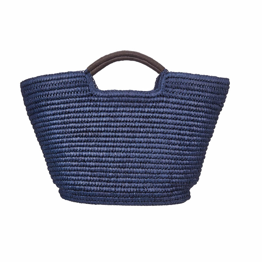 Cappelli Hand Crocheted Toyo Tote - Navy