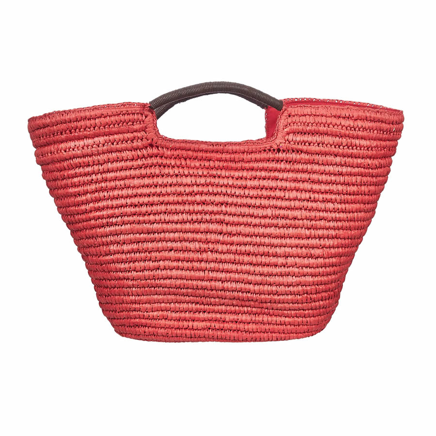 Cappelli Hand Crocheted Toyo Tote - Red