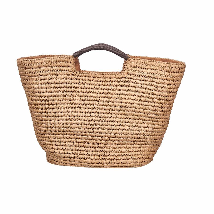 Cappelli Hand Crocheted Toyo Tote - Tan