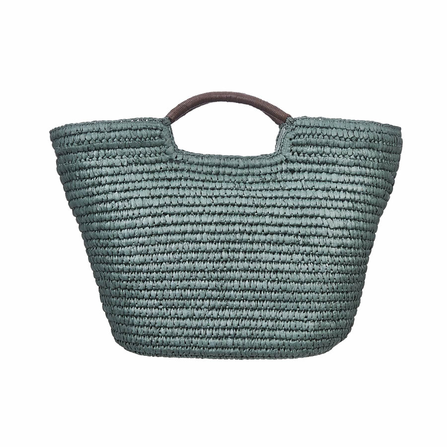 Cappelli Hand Crocheted Toyo Tote - Teal