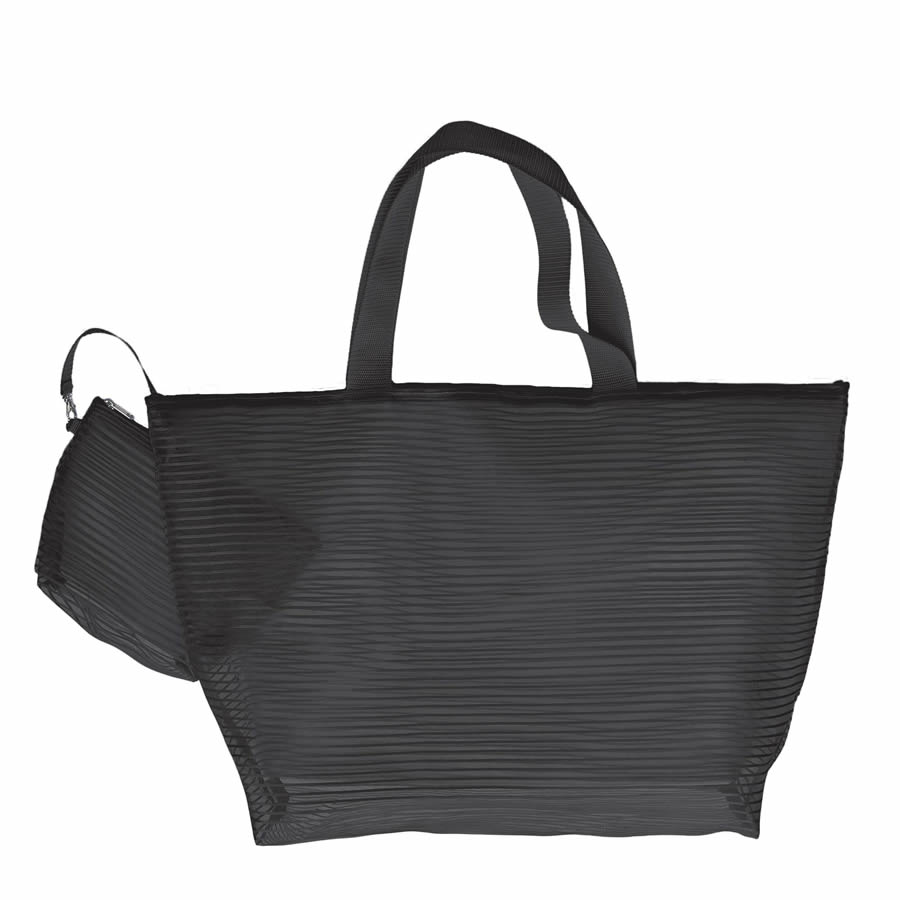 Cappelli Tote & Cosmetics Bag - Black