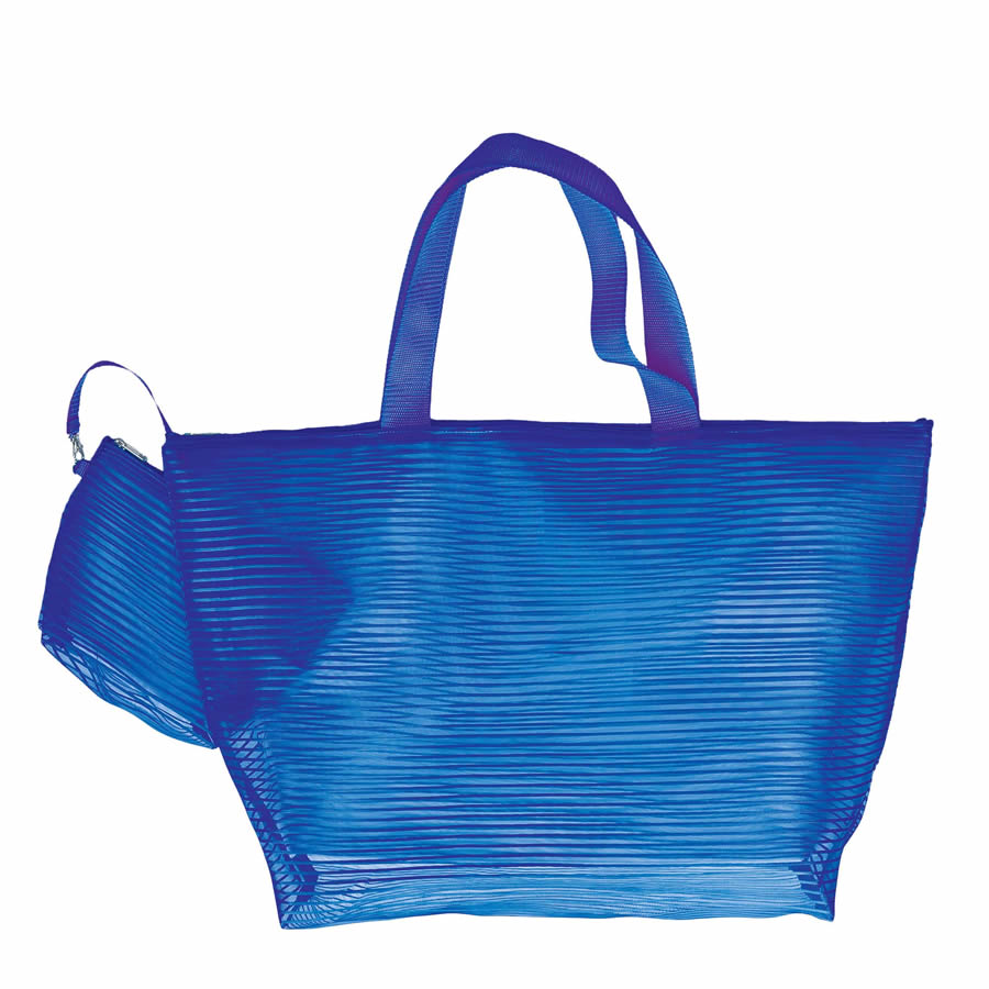 Cappelli Tote & Cosmetics Bag - Royal