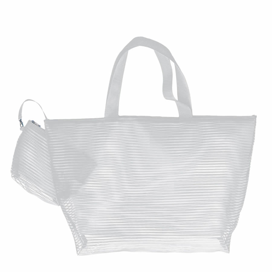 Cappelli Tote & Cosmetics Bag - White