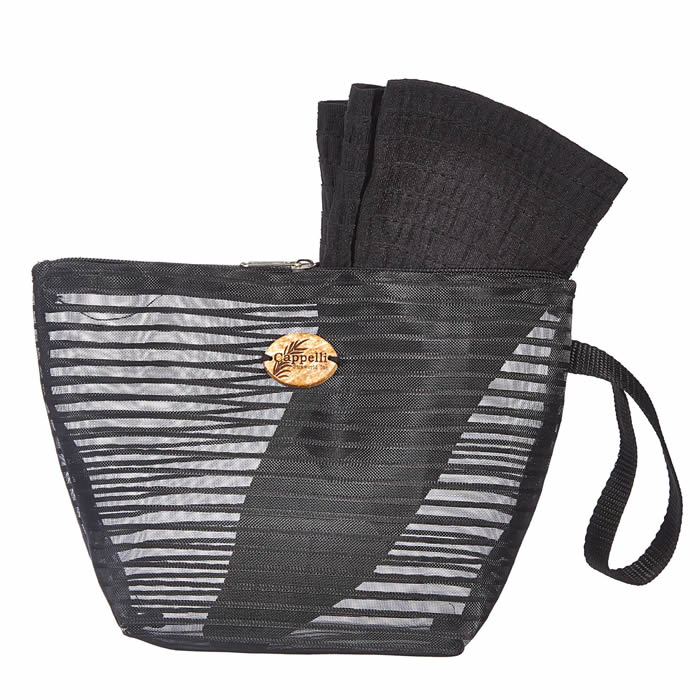 Cappelli Pack a Hat & Mesh Tote - Black