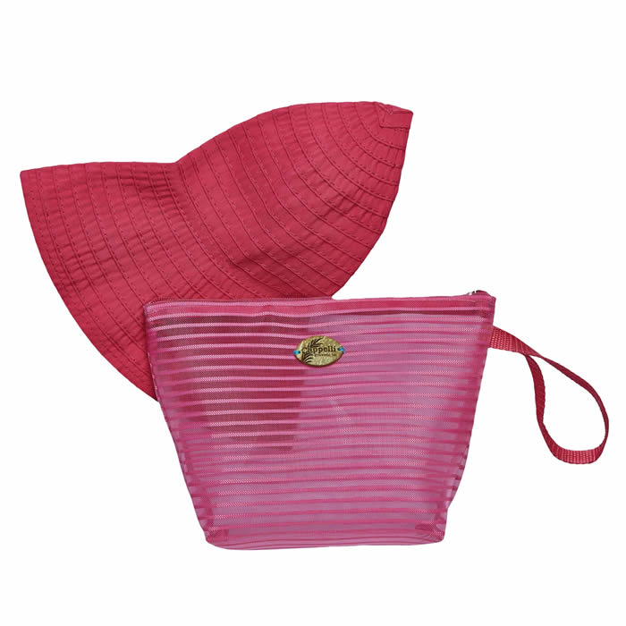 Cappelli Pack a Hat & Mesh Tote - Hot Pink