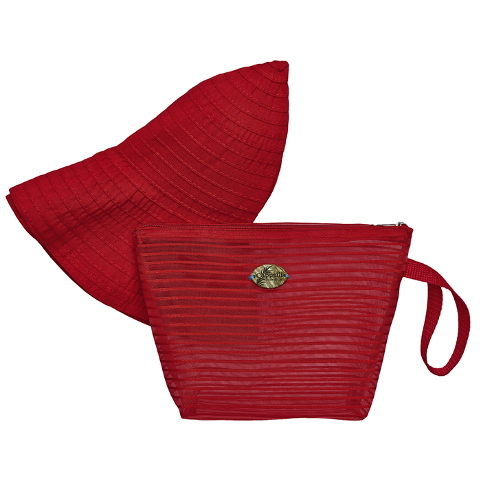 Cappelli Pack a Hat & Mesh Tote - Red