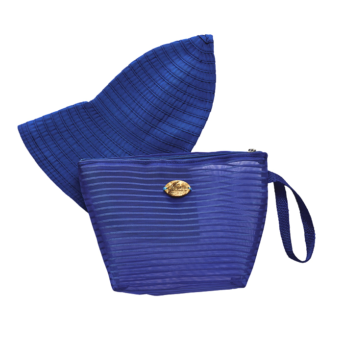 Cappelli Pack a Hat & Mesh Tote - Royal
