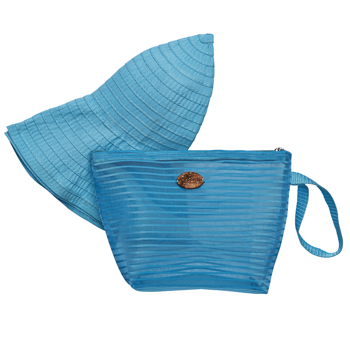 Cappelli Pack a Hat & Mesh Tote - Turquoise