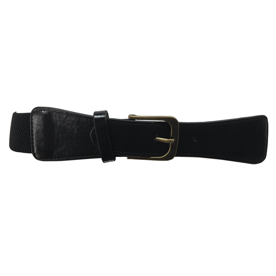 MIKAROSE Stretch Waist Belt - Black