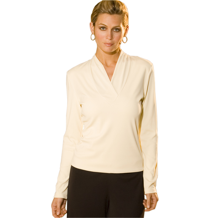 Carilyn Vaile Ruched Wrap V Top - Shell