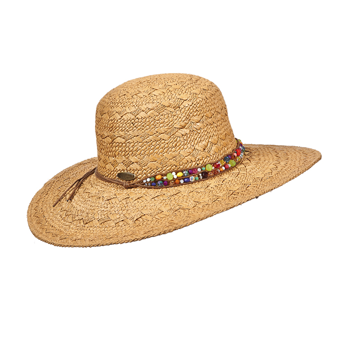 Cappelli Broad Brim with Beaded Trim- Bright