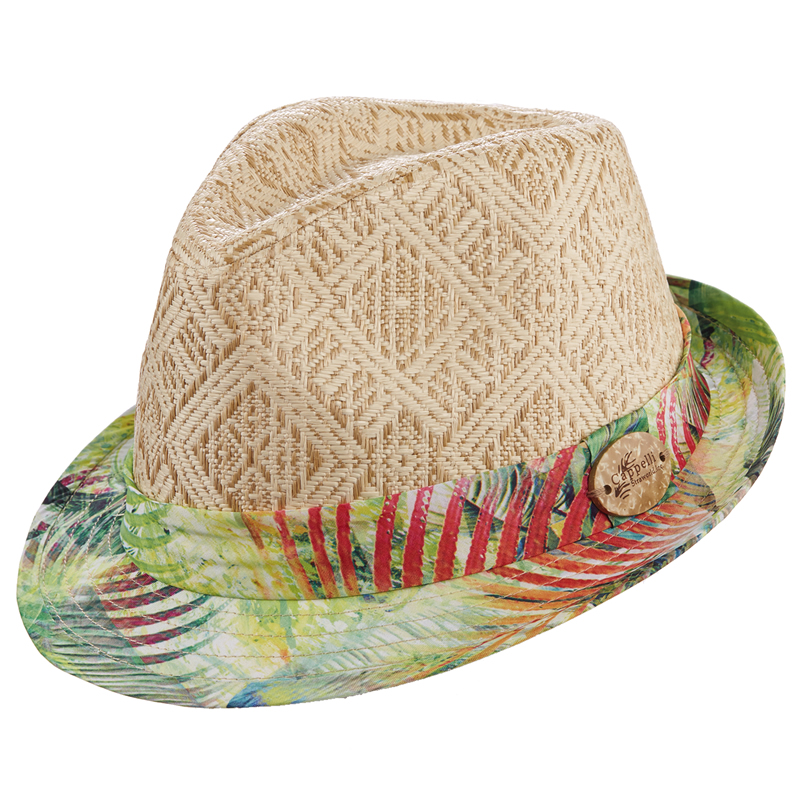 Cappelli Fabric Print Fedora - Lime