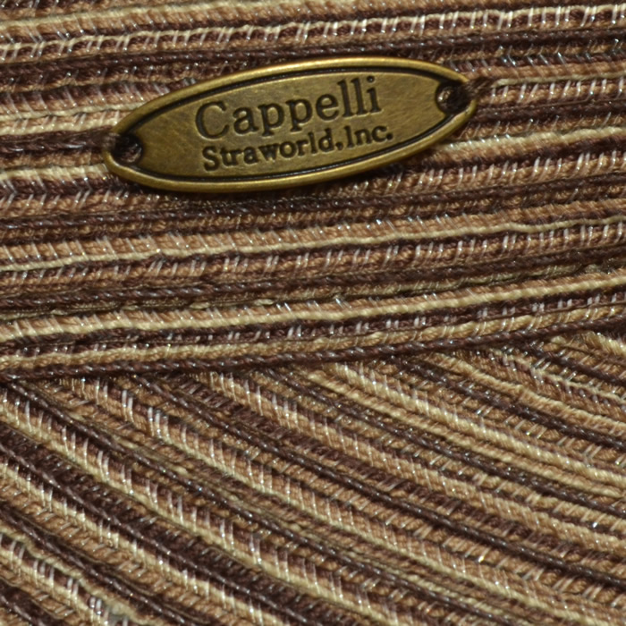 Cappelli Fashion Visor- Brown