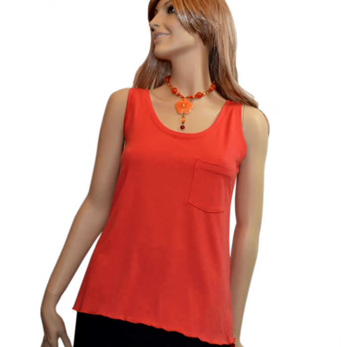 Carilyn Vaile Relaxed Pocket Tank JerZey