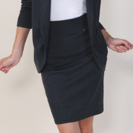 Carilyn Vaile Flatter-Knit Pencil Skirt