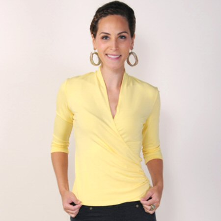 Carilyn Vaile Ruched Side 3/4 Sleeve JerZey