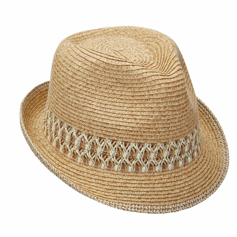 Scala Paper Braid Fedora Hat - Natural