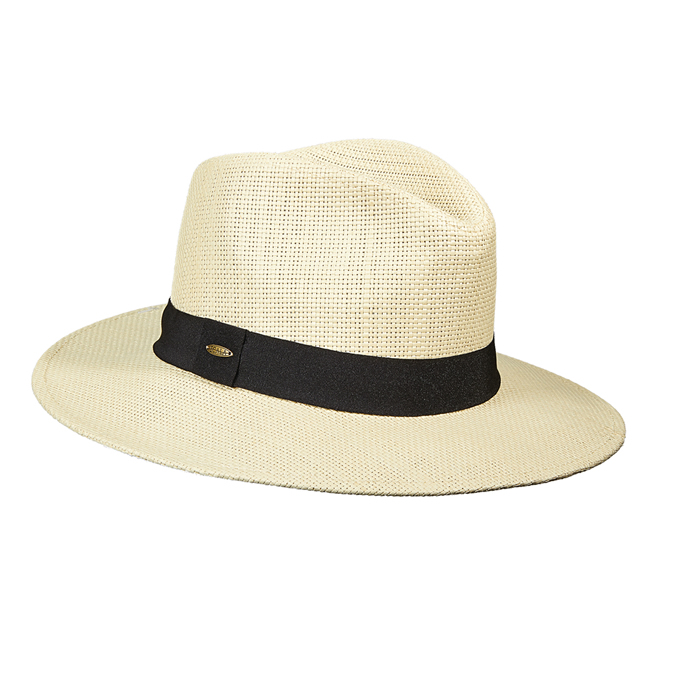 Scala Toyo Safari Hat- Black Grosgrain