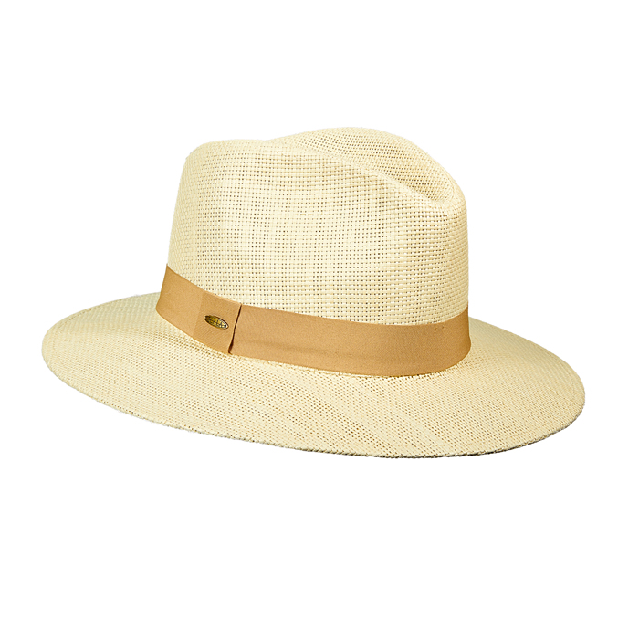 Scala Toyo Safari Hat- Khaki Grosgrain