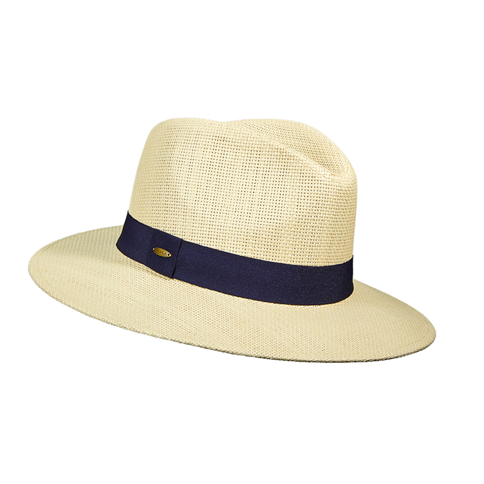 Scala Toyo Safari Hat- Navy Grosgrain