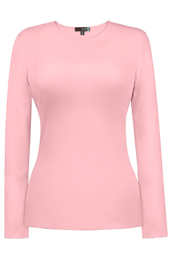 JudyP Jewel Neck Long Sleeve - Crystal Rose