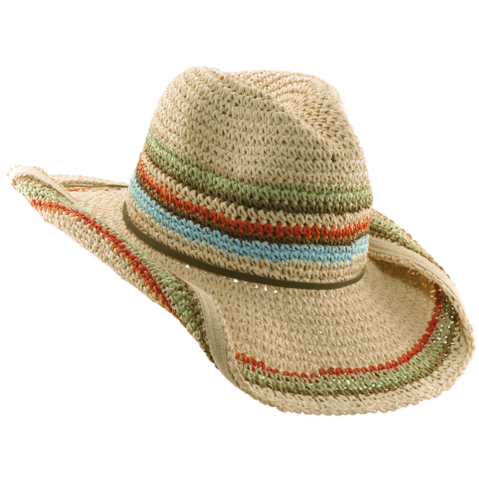 Tropical Trends Crochet Toyo Hat - Natural
