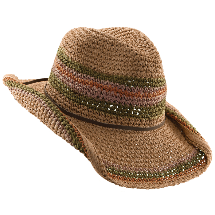 Tropical Trends Crochet Toyo Hat - Tea