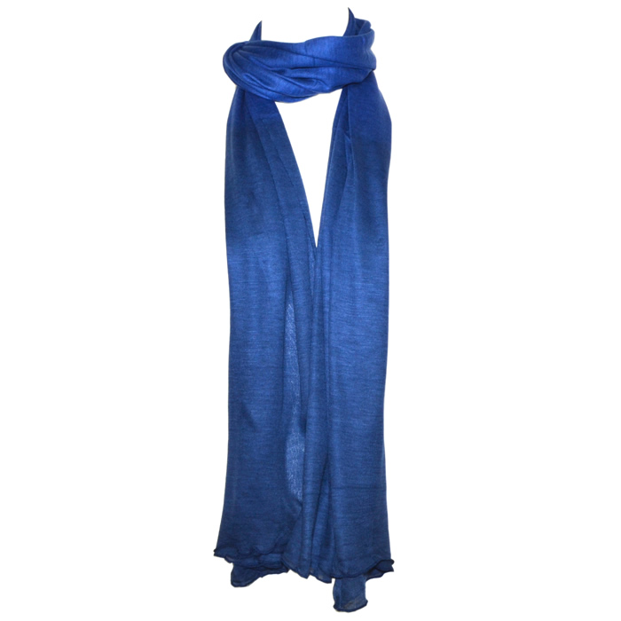 Blue Pacific Fashion Ombre Infinity Scarf - Cobalt