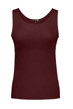 JudyP Relaxed Fit Tank - Cabernet