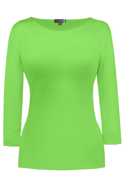 JudyP Sabrina 3/4 Sleeve - Green Flash