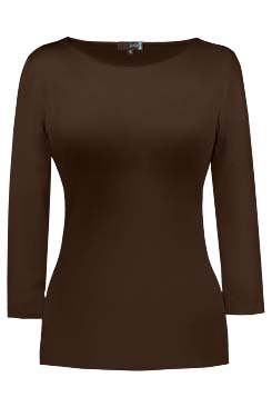 JudyP Sabrina 3/4 Sleeve - Walnut