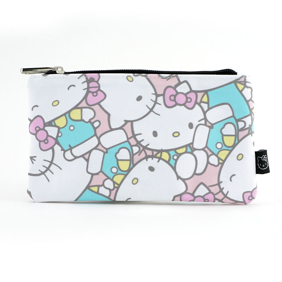 Loungefly Hello Kitty Pastel Printed Nylon Coin Cosmetic Bag
