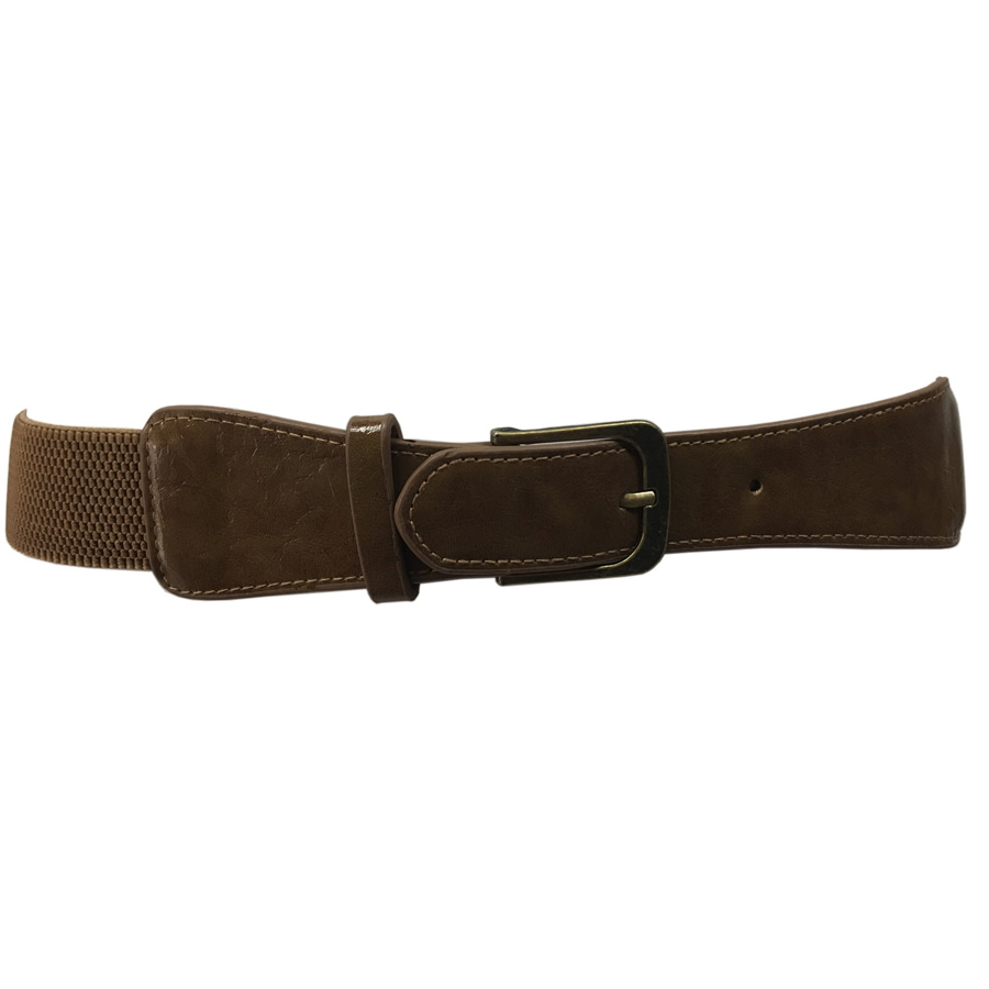 MIKAROSE Stretch Waist Belt - Taupe