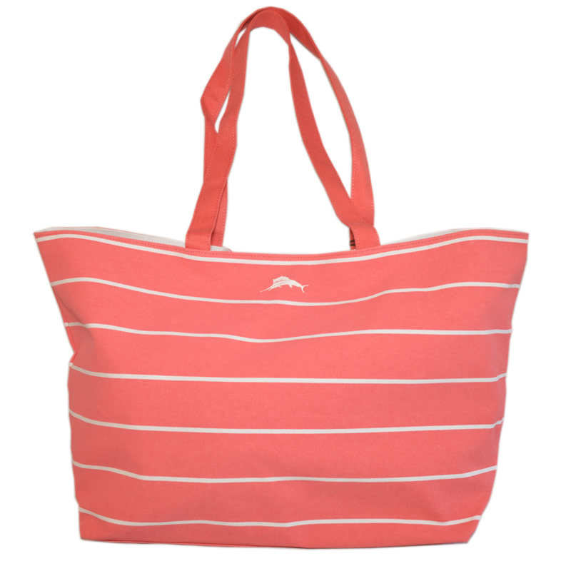 Tommy Bahama Marlin Striped Tote - Melon Berry