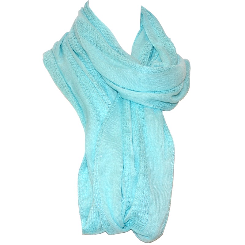 Tommy Bahama Sequin Stripe Infinity Scarf- Spring Sky