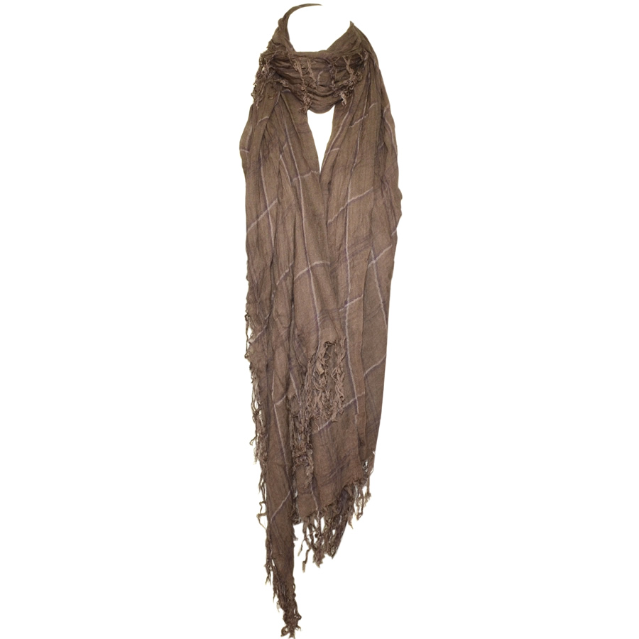 Blue Pacific Fashion Tissue Square Scarf - Taupe