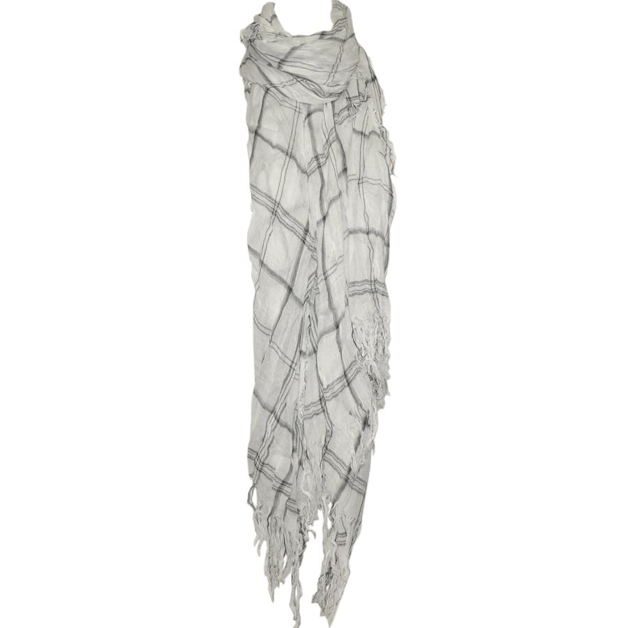 blue pacific fashion tissue square scarf white ts40