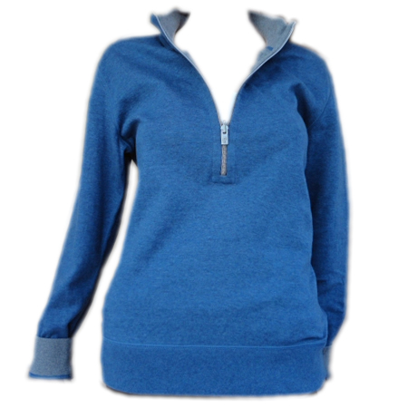 Tommy Bahama Flip Side Reversible Half Zip Sweatshirt- Ocean Deep