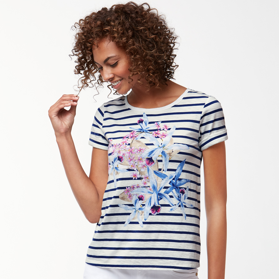 Tommy Bahama Orchid You Not Stripe T-Shirt