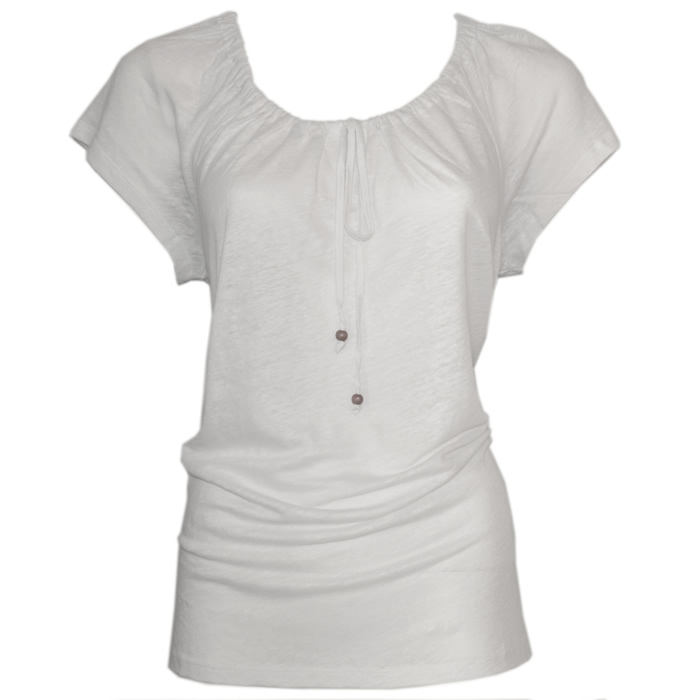 Tommy Bahama Linnea Jersey Shirred Tie Top - White