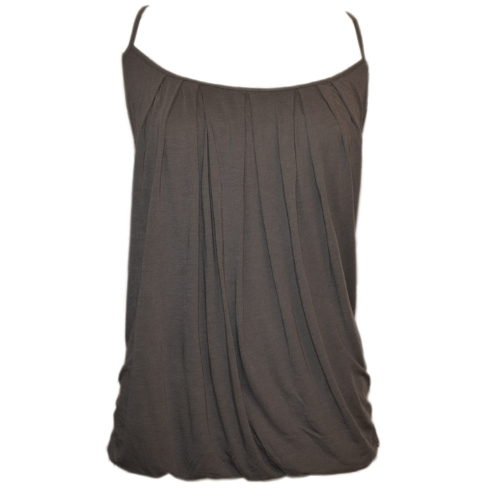 Tommy Bahama Cliff Jersey Shirred Bubble Tank - Cave